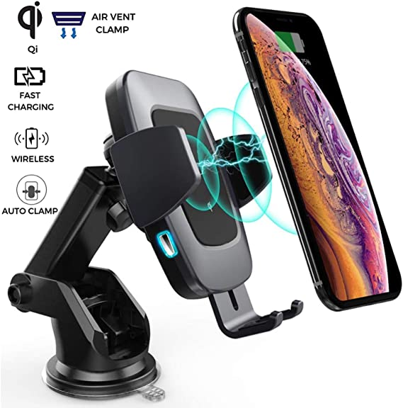 Fast Wireless Car Charger Cup for Samsung S9 S8 Note10 9 Qi Wireless Charging