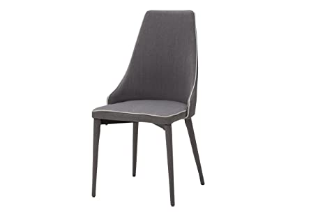 White loft set di sedie metallo grigio cm amazon
