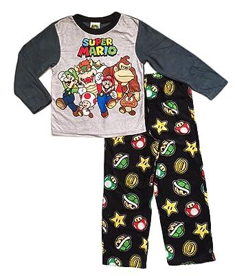 Amazon.com: Nintendo Super Mario Brothers Boys Pajamas 4-10 (L (10 ...