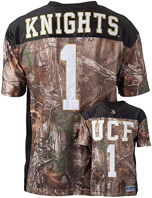 Men/'s RealTree Xtra Camouflage College Football Stitched Game Day Jersey