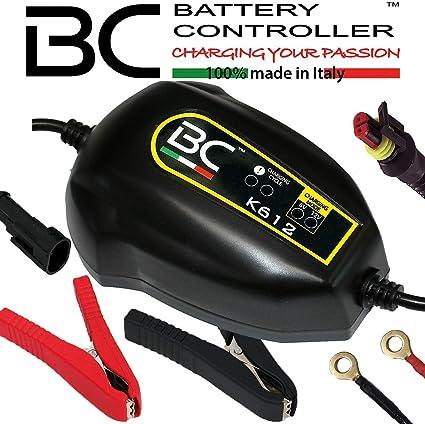 BC Battery Controller BC K612, Cargador de baterías y Mantenedor inteligente para todas las Baterías de Coche y Moto (también Vehículos Históricos) 6V/12V de Plomo-Ácido, 1A: Amazon.es: Coche y moto