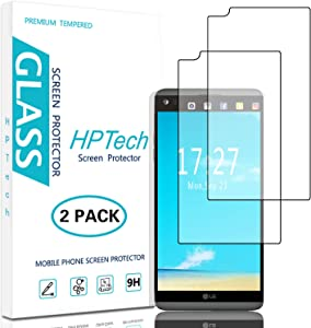 HPTech LG V20 Screen Protector - (2-Pack) Tempered Glass for LG V20 Bubble Free 9H Hardness Easy to Install with Lifetime Replacement Warranty