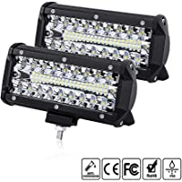 "2pcs 7"" 120W Foco Led Tractor,Comaie 25,000LM Faros"