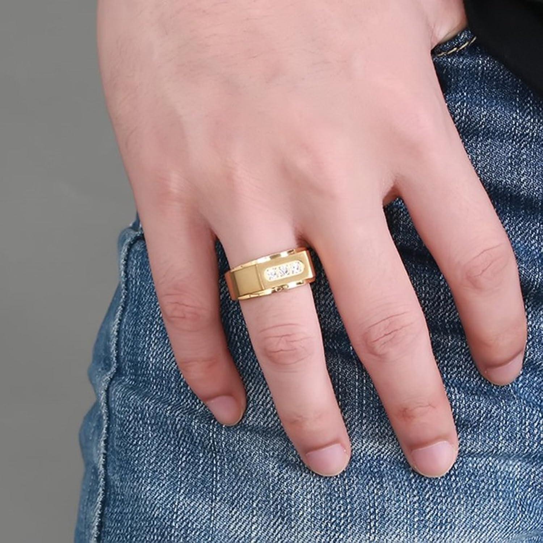 Amazon.com: JAJAFOOK 18k Gold Fashion Luxury Cubic Zirconia Inlay ...