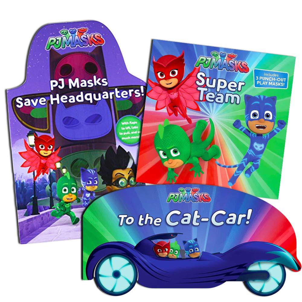 PJ Masks Board Books Super Set PJ Masks Party Supplies 3 Deluxe PJ Masks Books for Toddlers