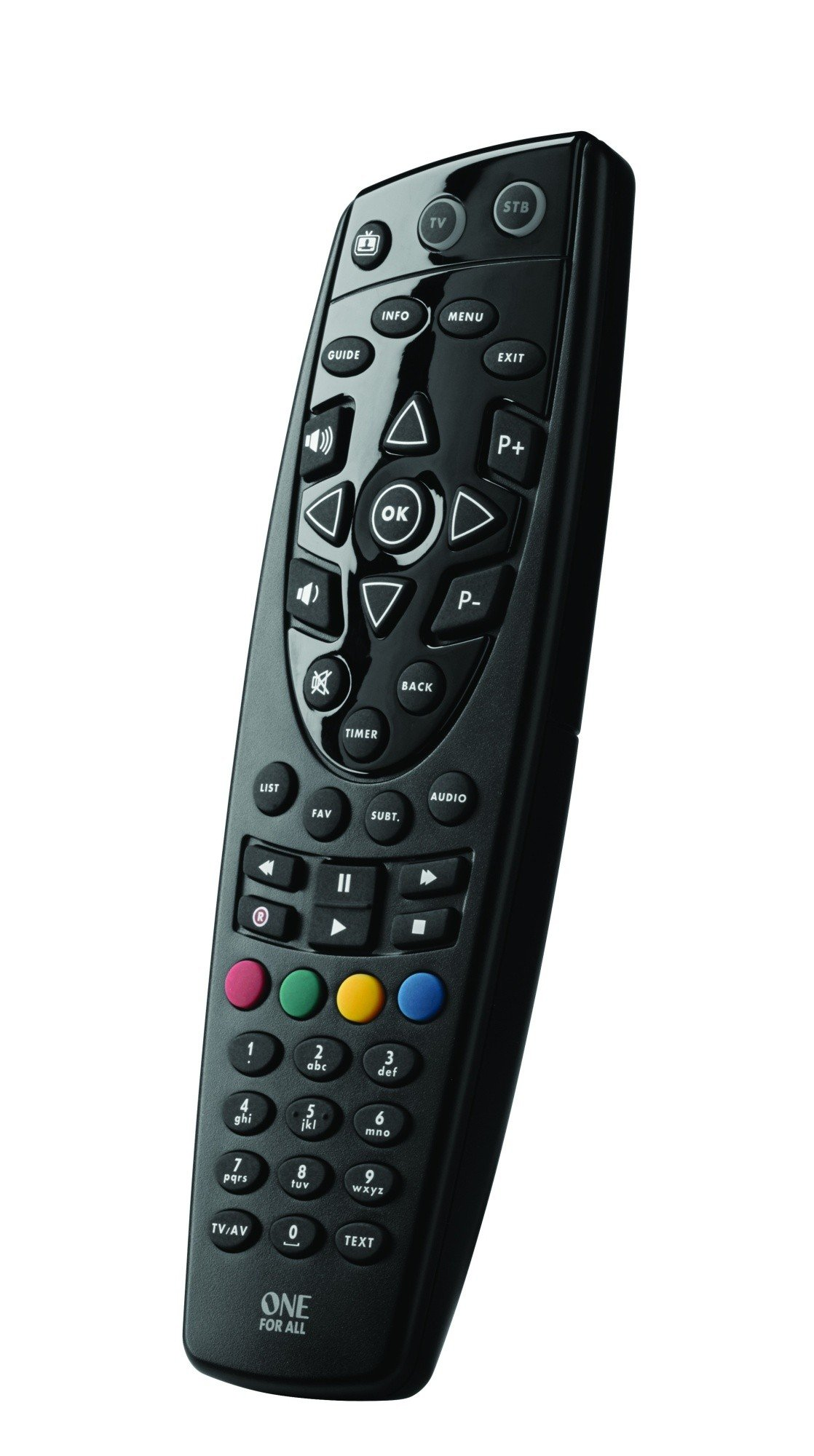 One For All URC1666 Remote Control for TV's/Cable/Satellite Boxes/SKY+ HD - Black