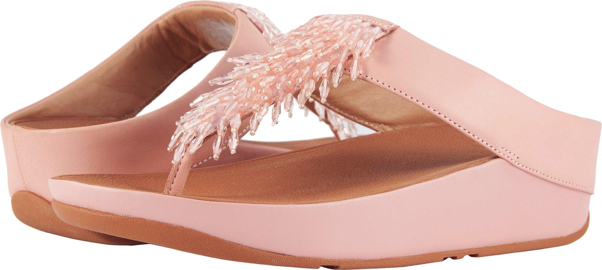 b76eb4ec193f Galleon - FitFlop Women s Rumba Toe Thong Sandals Dusky Pink 8