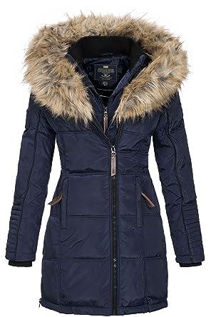 comprar popular cce5c 32d74 Geographical Norway Mujer Chaqueta de Invierno Parka Belissima Pelaje de XL  Capucha