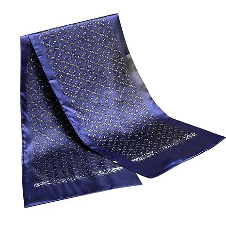 super popolare 3d38a de873 Fascigirl Sciarpa da Uomo, Sciarpa di Cotone di Seta Sciarpa di Raso a  Doppio Strato Elegante per Uomo
