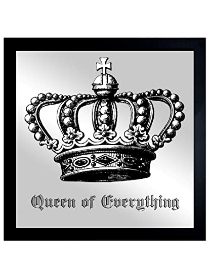 Oliver Gal 14080_20x20_MIR_FLAT Queen of Everything | Framed Mirror Print for Wall Art Decor. The