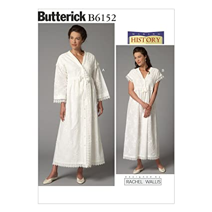 amazon com butterick patterns b6152 misses robe and nightgown