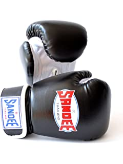 Sandee Kids Boxing Gloves Muay Thai Authentic Synthetic Leather Red /& White