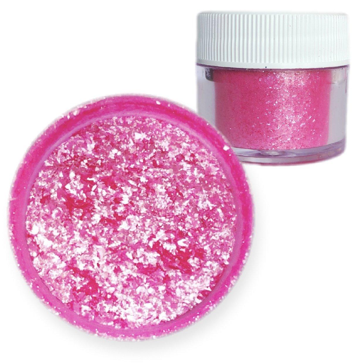 Bulk Size | Deep Pink Edible Tinker Dust Edible Glitter 25g Jar | Bakell Food Grade Gourmet Dessert, Foods, Drink Garnish | Pearlized Shimmer Sparkle Sprinkle by Bakell