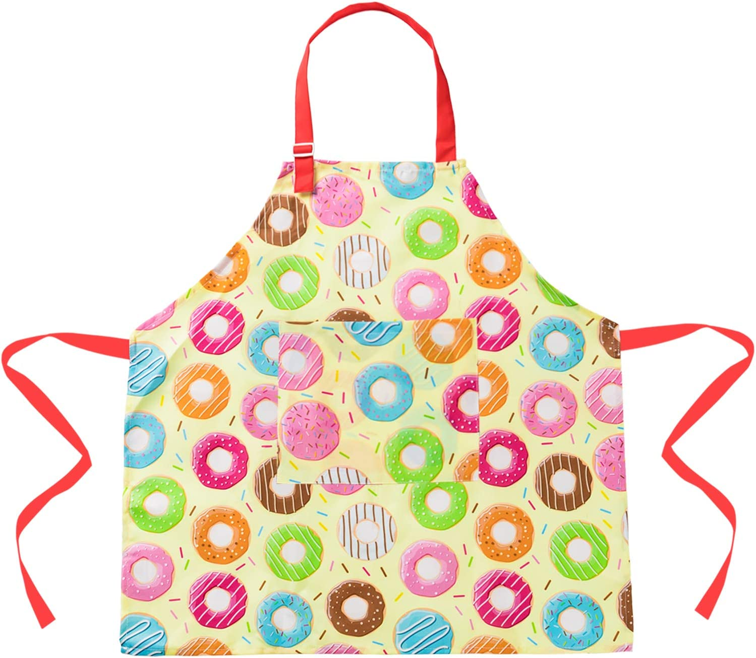Black+Dog, Small,3-5Years Sylfairy Children Aprons for Kids Girls Rainbow Unicorn Apron with Pockets for Children Kichen Chef Aprons for Cooking Baking Painting and Party