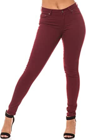 AP Blue Aphrodite Basic Skinny Jeans for Women - Solid Womens Stretch Jeans