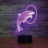 Tatapai Delphin Neue 3D Led Nachtlicht Neben Lampe Touch Control 7 Farbwechsel USB Touch Led Schreibtisch Tischlampe…