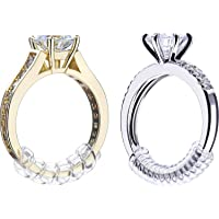 8 Pieces Ring Sizer Adjuster Ring Guard with Jewelry Polishing Cloth for Loose Rings, 2 Size, 2 mm/3 mm