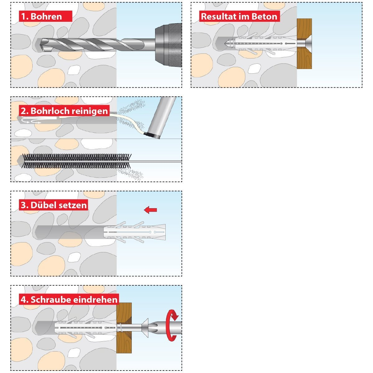 TOX Spreizd/übel Barracuda 14 x 70 mm D/übel f/ür Vollbaustoffe 013100121 100 /% Nylon 20 St/ück
