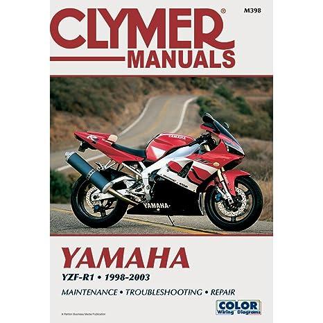 amazon com clymer repair manual for yamaha yzf r1 r 1 98 03 rh amazon com Yamaha YZF- R15 Yamaha YZF- R15