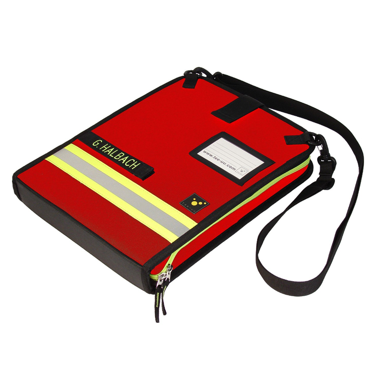 Tee-uu DOKU Einsatzleitmappe, DIN A4 quer 38 x 28 x 5,5 cm in 2 Farben, Farben:Rot