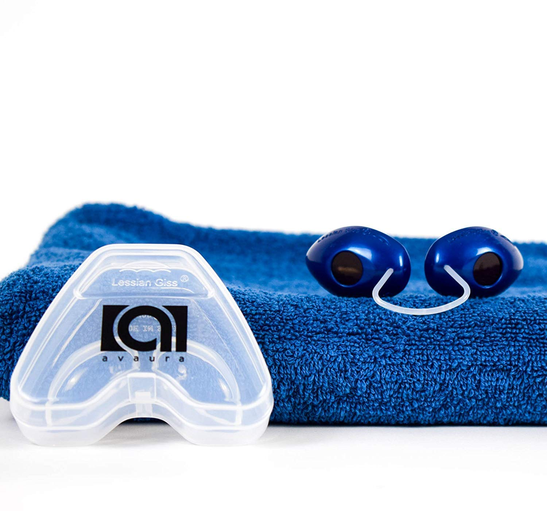 Premium Solarium Schutzbrille von Avaura mit verbessertem Konzept [2018] - inklusive Aufbewahrungsbox - Perfektes Sonnenbaden ohne Bräunungsstreifen - Geprüfte Uv Brille gemäß EN170