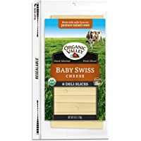 Organic Valley, Organic Baby Swiss Cheese Slices - 6 oz Packet