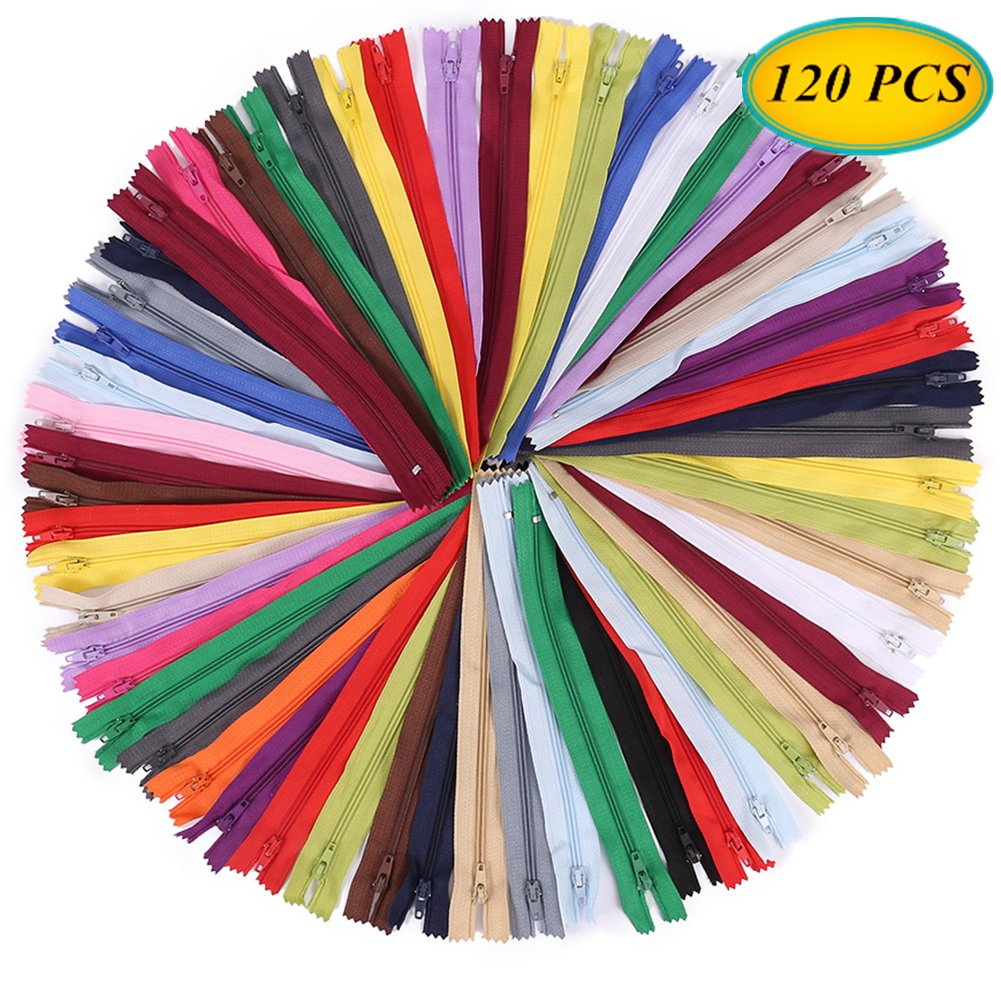 SUNVORE 120 Pcs 9 Inch Nylon Coil Zippers Bulk for Tailor Sewing Crafts (20 Colors) 4337006496