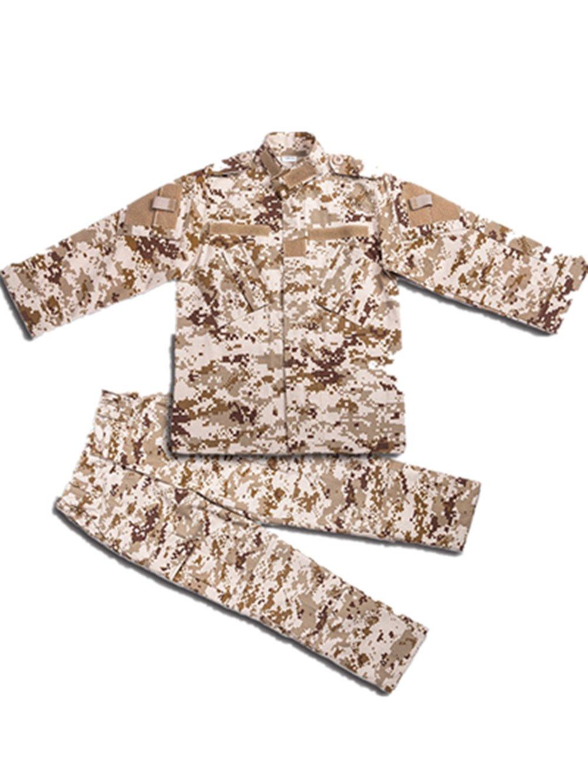 Children's camouflage tactical suit Combat Bdu Uniform Military Uniform Bdu Outdoor soprts of parent-child uniforms Coat+Pants (160CM / 5.2FT, Digital Desert)