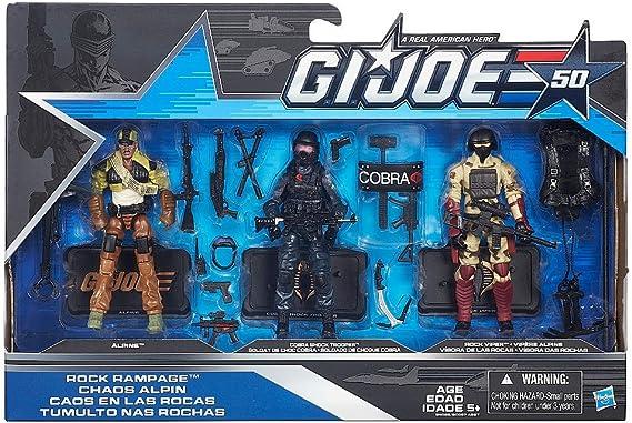 G.I. Joe, 50th Anniversary, Rock Rampage Action Figure Set [Alpine, Shock Trooper, and Rock Viper], 3.75 Inches by Hasbro: Amazon.es: Juguetes y juegos