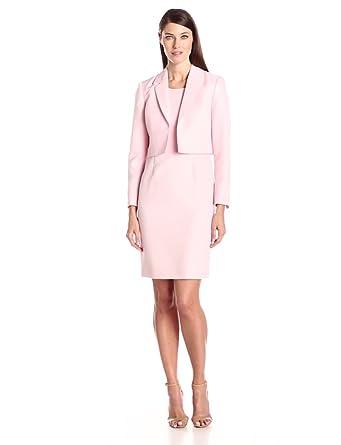 Amazon.com: Le Suit Women's Tweed Jacket and Dress Suit Set: Clothing