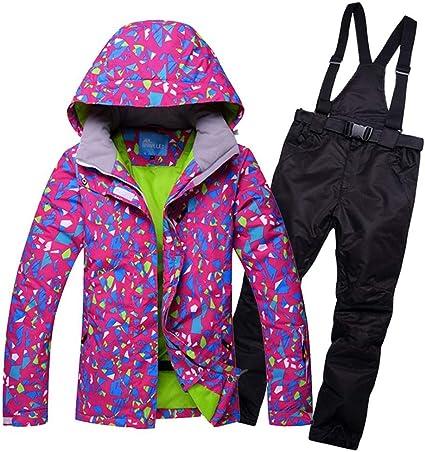 Hexiaoyi Costume d'hiver Ski Veste Pantalon Super Chaude Ski