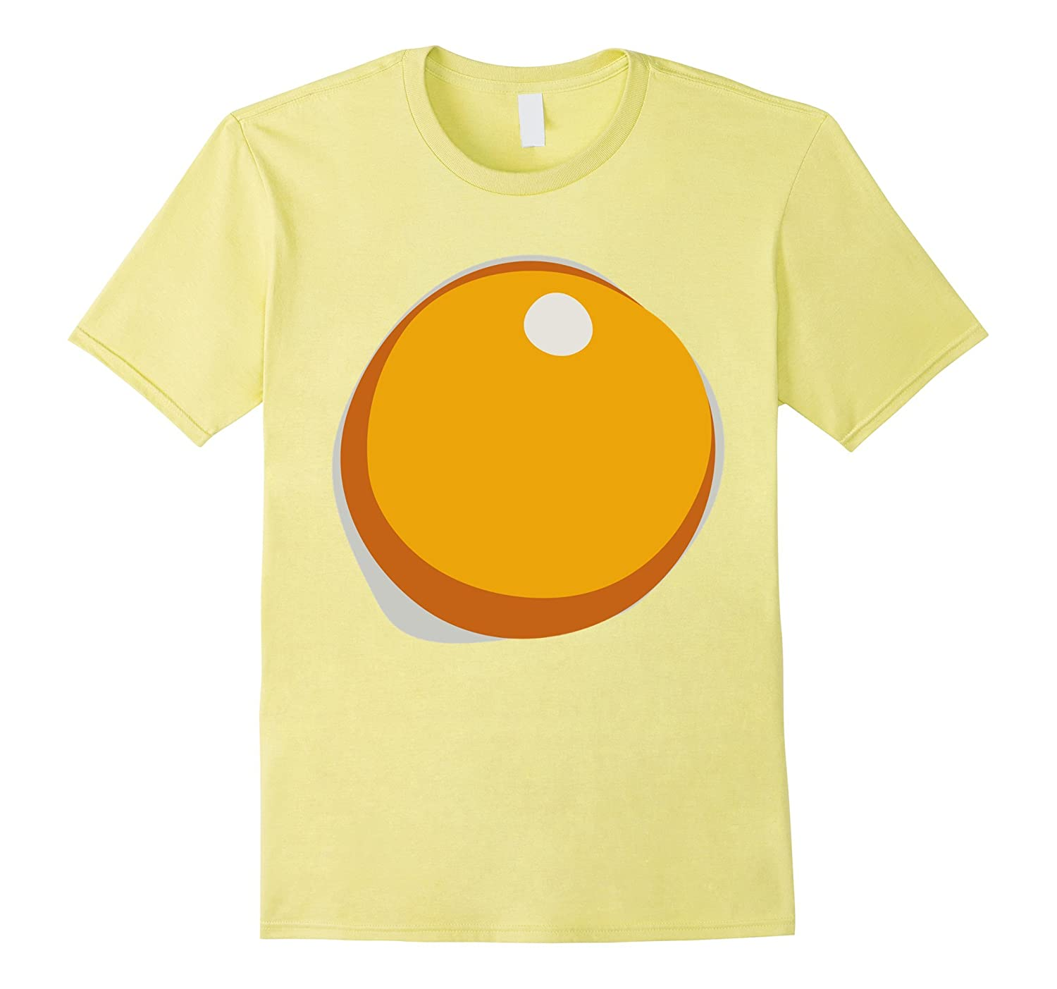 Fried Hard Boiled Egg Yolk Breakfast Halloween Costume Tee-T-Shirt