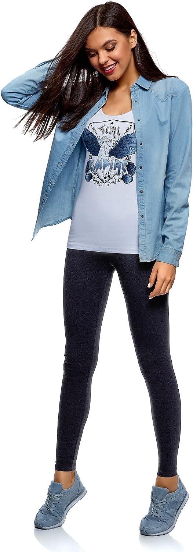 oodji Ultra Damen Jersey-Leggings Basic