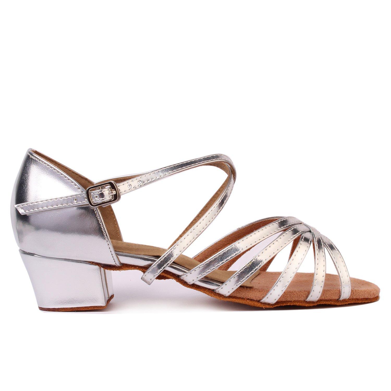 LOVELY BEAUTY Lady's Ballroom Dance Shoes for Chacha B0777P7Q89 Latin Salsa Rumba Practice B0777P7Q89 Chacha 11 B(M) US Silver e02538