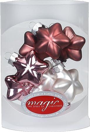 Christbaumkugeln Sterne.Magic 8 Sterne 4cm Glas Weihnachtsschmuck Weihnachtsdeko Christbaumkugeln Deko Kugeln Farbe Avenue Of Romance Rosa Magnolie