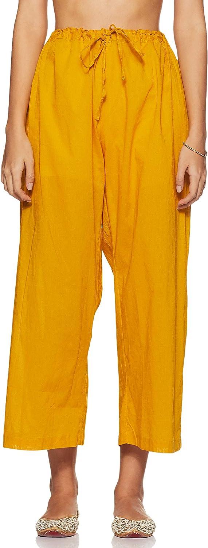 Biba Yellow Cotton Straight Suit Set