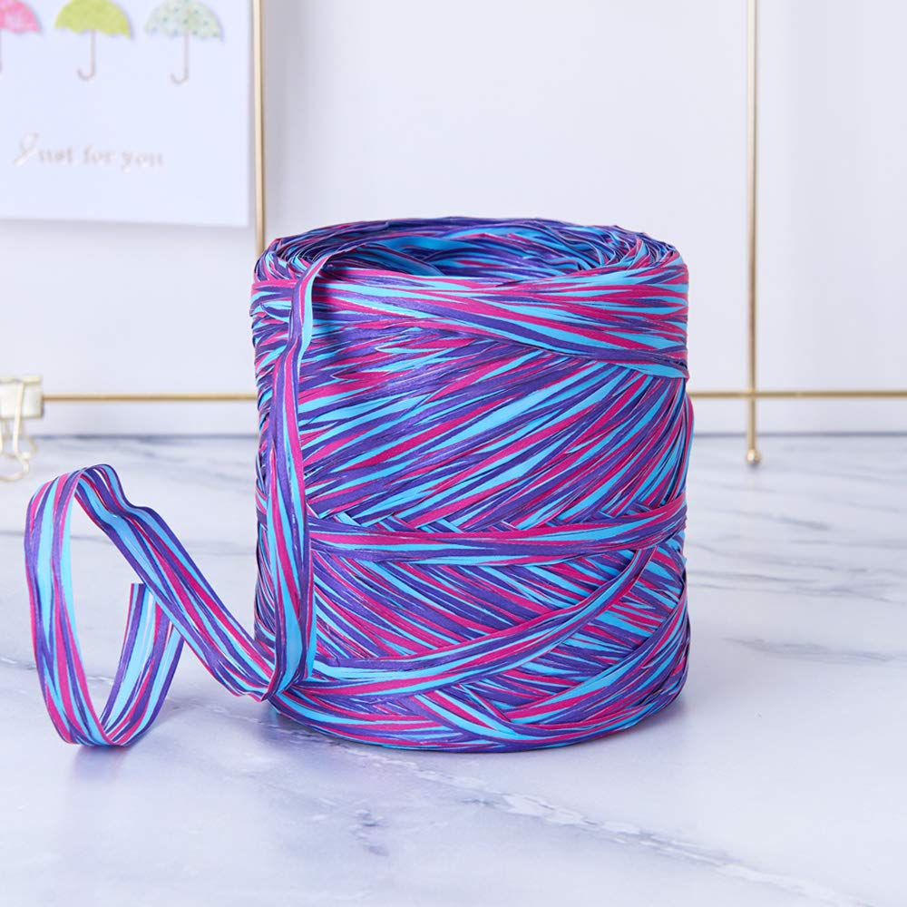 Space Colored Paper Raffia, 200 Meters / 218 Yards by Funbou