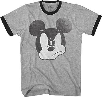 Disney Steamboat Mickey Mouse T-Shirt Heather Grey Mens Retro Cartoon Disneyland