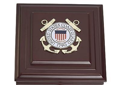 Allied Frame Us Coast Guard Medallion Desktop Box by Allied Frame