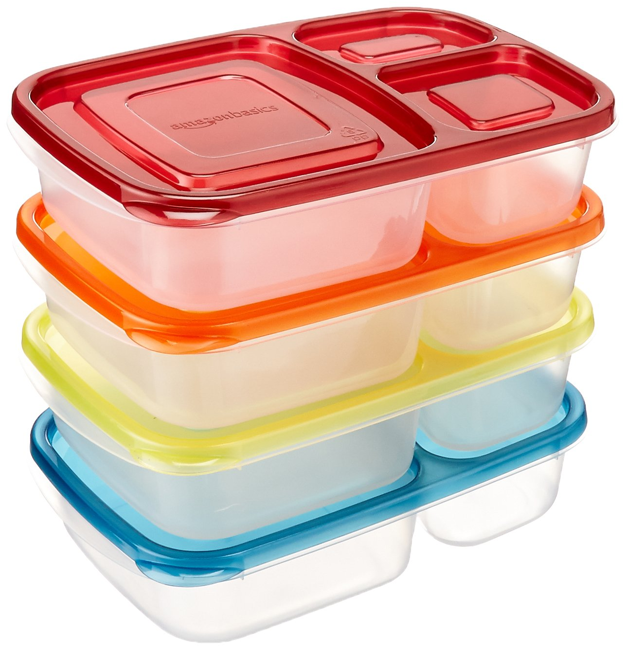 AmazonBasics Bento Lunch Box Containers - Set of 4 by AmazonBasics