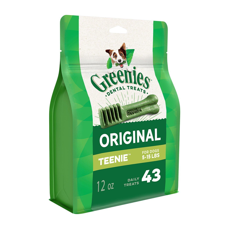 Greenies Original TEENIE Dental Dog Treats, 12 oz. Pack (43 Treats)