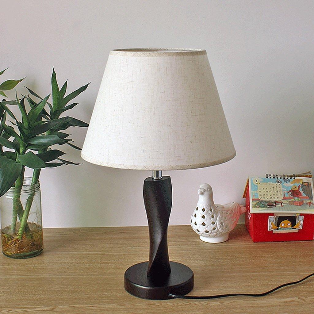 LZY 電気スタンド- 中国のファブリックテーブルランプベッドルームのベッドサイドの読書ランプ木製の中国式のリビングルームスタディホテルルーム装飾照明 (色 : C) B07S5BBTLN C