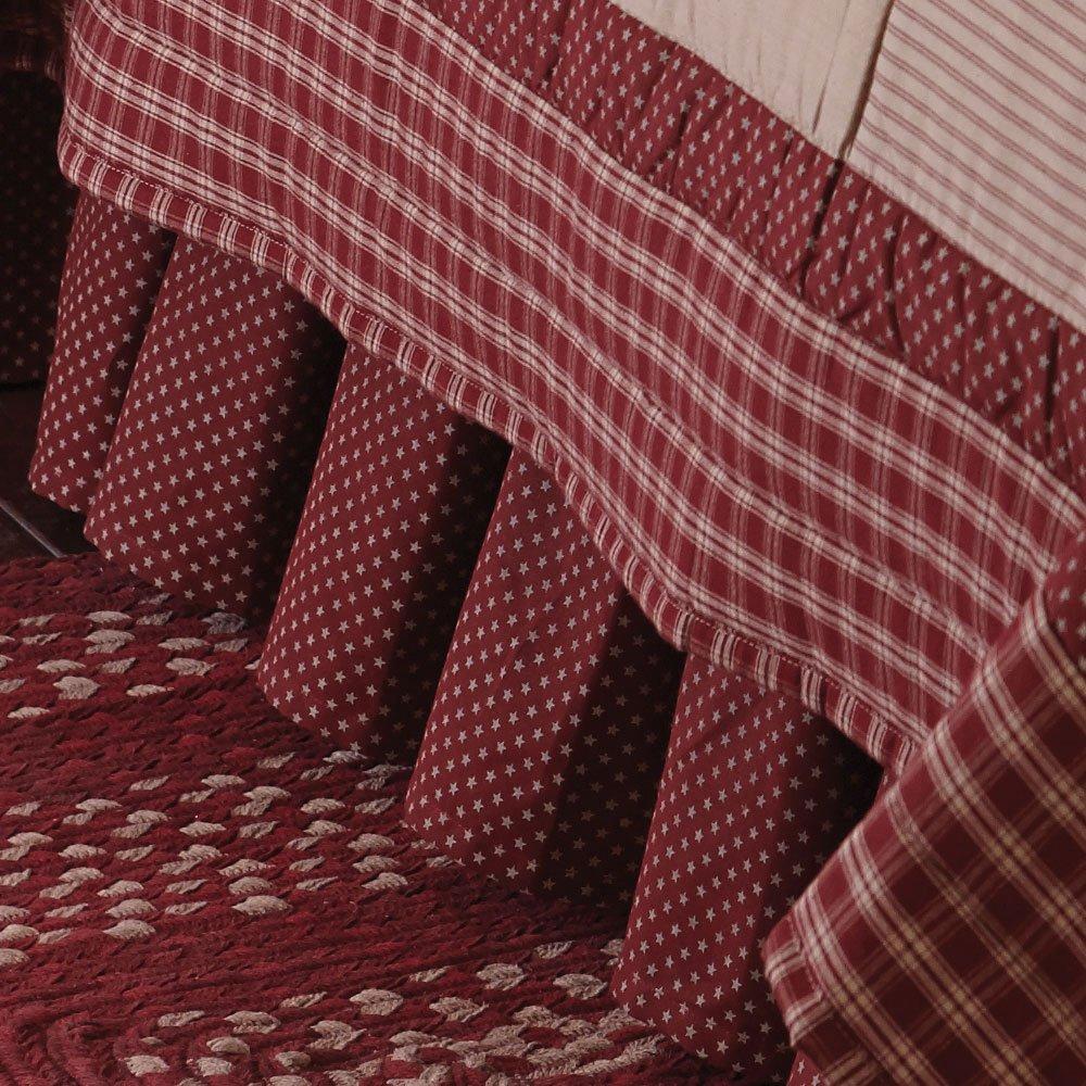 Park Designs Sturbridge Patch King Bed Skirt - Wine by Park Designs