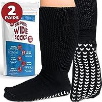 Extra Wide Socks for Swollen Feet - Extra Wide Bariatric Socks, Non Slip Cast Sock, Diabetic Edema Socks - Swollen Feet…