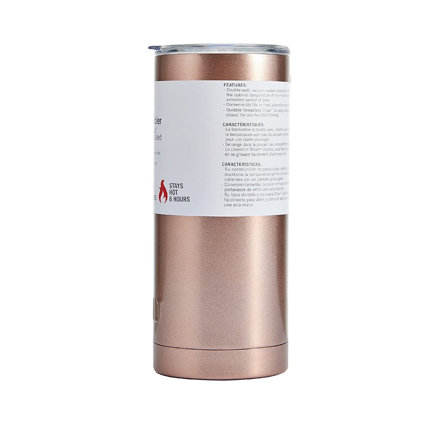 Built Double Wall Stainless Steel Vacuum Insulated Tumbler, 20 Oz Rose Gold