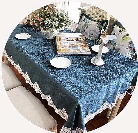 Giow Mantel de algodón y Lino, Cubierta de Mesa de Encaje, Mantel Rectangular, para manteles de Mesa de Comedor: Amazon.es: Hogar