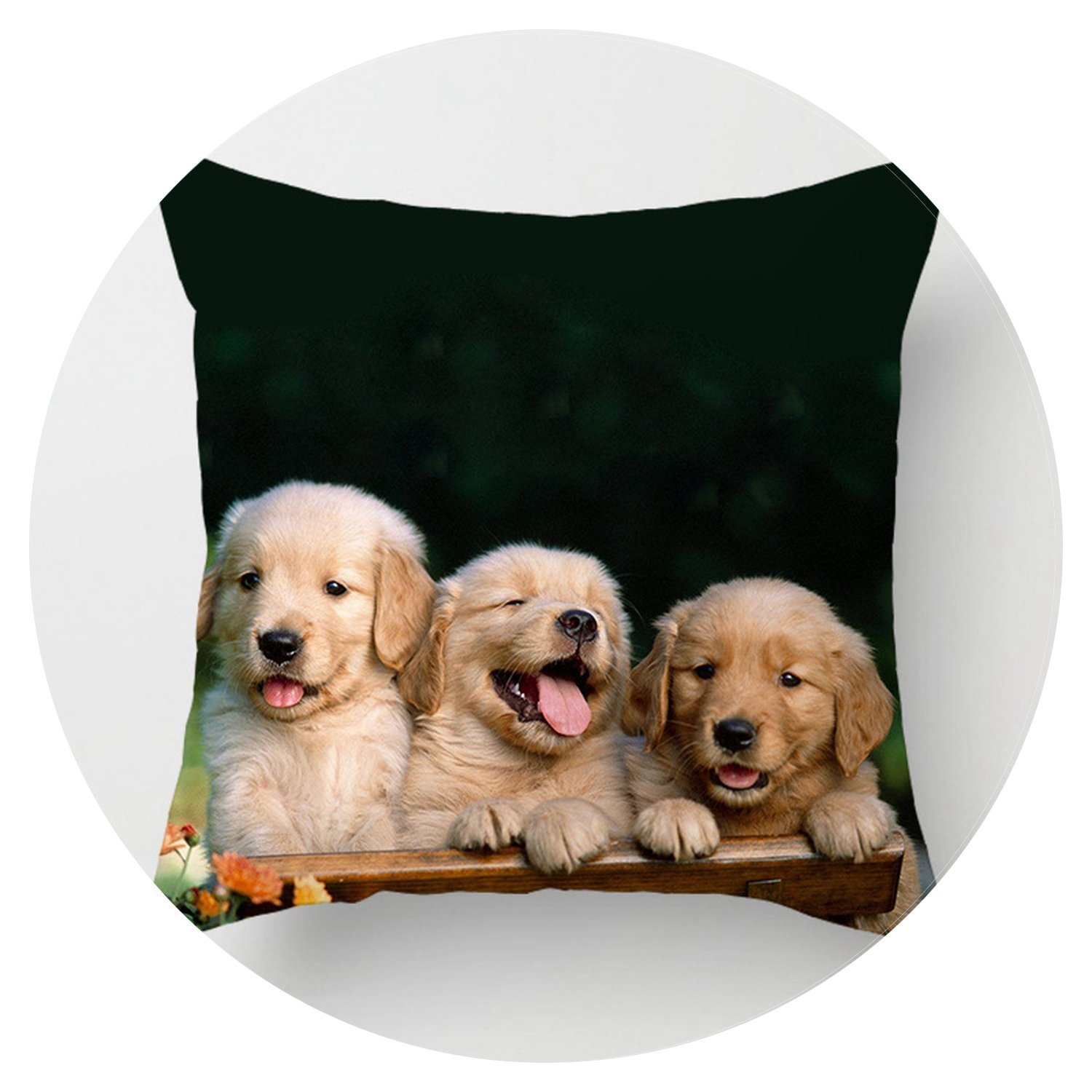 Lovely Dogs doggie series soft pillow cover comfortable home hotel 400mm400mm pillow case,dog pc002,400400mm