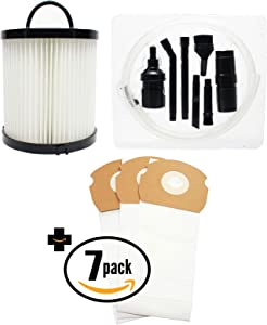 21 Replacement AS-Bag Premium Vacuum Bags & DCF-21 Filter with 7-Piece Micro Vacuum Attachment Kit for Eureka - Compatible with Eureka AirSpeed AS1000A, Eureka AS1000A, Eureka AS1001A, Eureka AS1051A, DCF-21 Dust Cup Filter, Eureka AS1050, Eureka AS1053AX, Eureka AirSpeed Gold AS1001A, Eureka AirSpeed AS1050