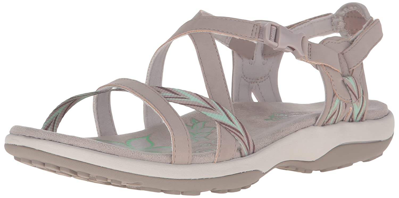 Skechers Regga Delgado mantenerse cerca del gladiador sandalia 37 EU Taupe/Mint