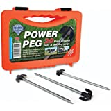 Blue Diamond POWER Pegs Hard Ground Tent & Awning Pegs x 20 With Plastic Storage Case